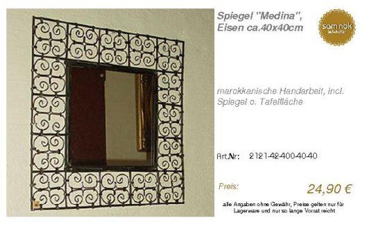 2121-42-400-40-40-Spiegel _Medina_, Eisen ca._sam nok