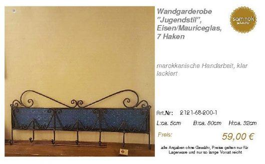 2121-68-200-1-Wandgarderobe _Jugendstil_, _sam nok