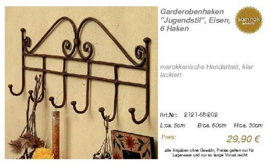 2121-68-202-Garderobenhaken _Jugendstil _sam nok