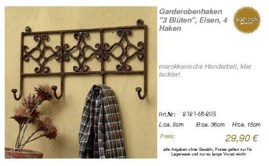 2121-68-203-Garderobenhaken _3 Blüten_, _sam nok