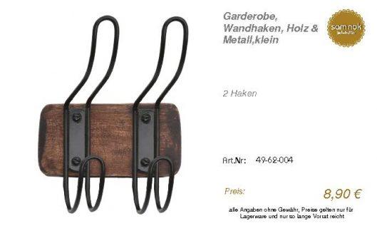 49-62-004-Garderobe, Wandhaken, Holz _sam nok