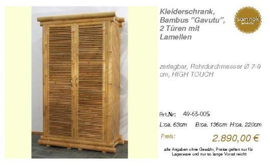 49-63-005-Kleiderschrank, Bambus _Gav