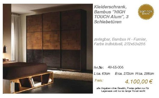49-63-006-Kleiderschrank, Bambus _HIG