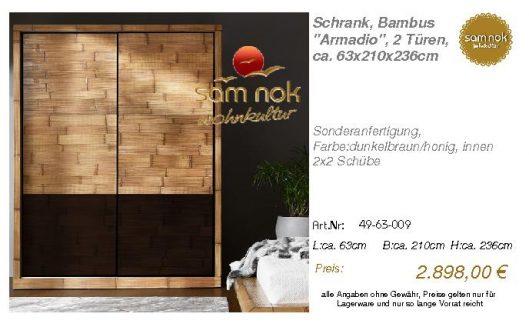 49-63-009-Schrank, Bambus _Armadio_,