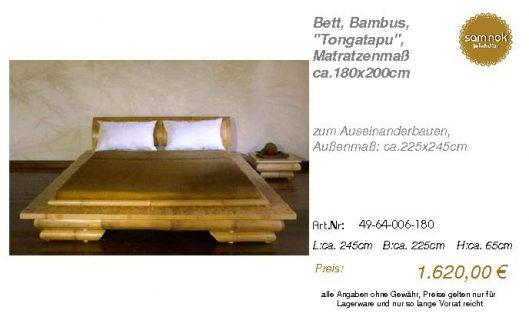 49-64-006-180-Bett, Bambus, _Tongatapu_,