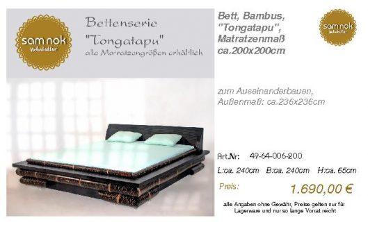 49-64-006-200-Bett, Bambus, _Tongatapu_,