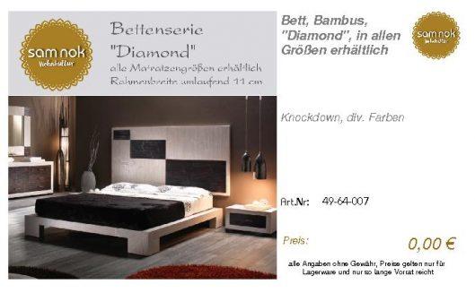 49-64-007-Bett, Bambus, _Diamond_, in