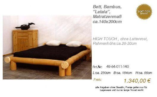 49-64-011-140-Bett, Bambus, _Latala_, Mat
