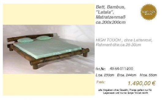 49-64-011-200-Bett, Bambus, _Latala_, Mat