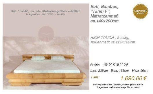 49-64-012-140-F-Bett, Bambus, _Tahiti F_, M
