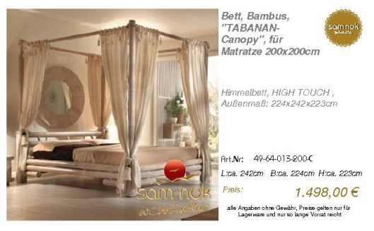49-64-013-200-C-Bett, Bambus, _TABANAN-Cano
