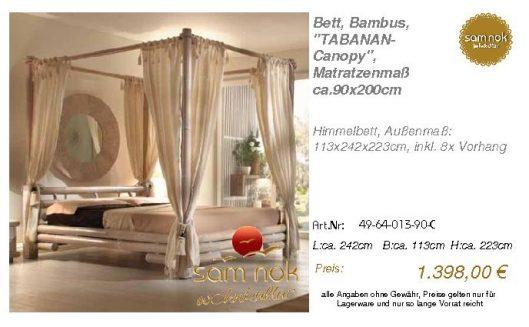 49-64-013-90-C-Bett, Bambus, _TABANAN-Cano