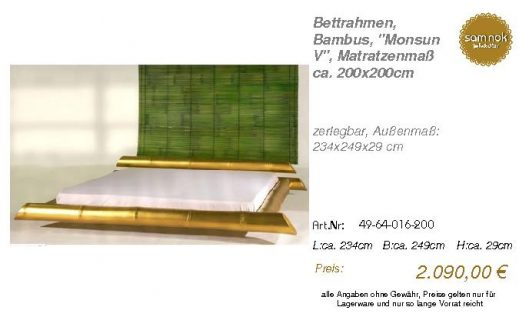 49-64-016-200-Bettrahmen, Bambus, _Monsun