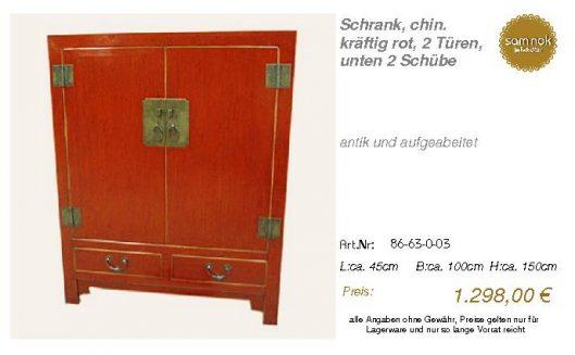 86-63-0-03-Schrank, chin. kräftig rot,
