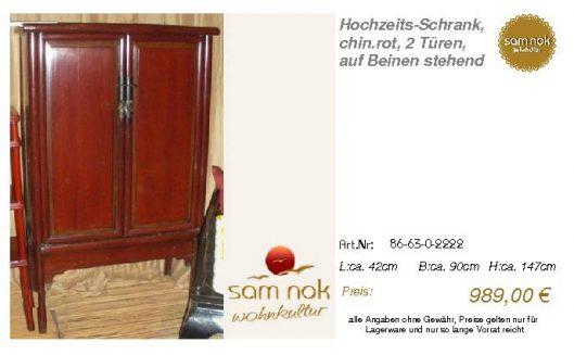 86-63-0-2222-Hochzeits-Schrank, chin.rot