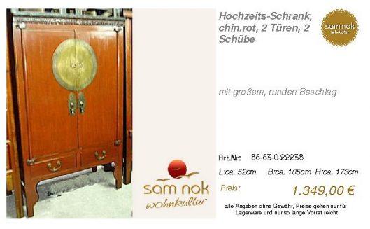 86-63-0-22238-Hochzeits-Schrank, chin.rot