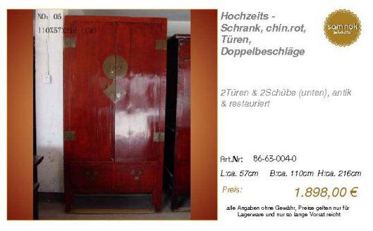 86-63-004-0-Hochzeits - Schrank, chin.r