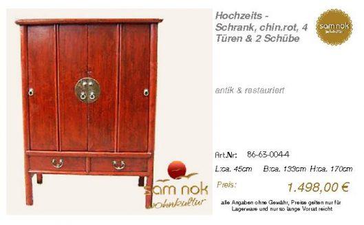 86-63-004-4-Hochzeits - Schrank, chin.r