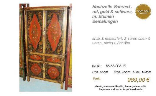 86-63-006-13-Hochzeits-Schrank, rot, gol