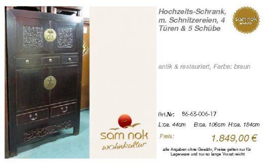 86-63-006-17-Hochzeits-Schrank, m. Schni