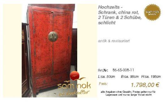 86-63-008-11-Hochzeits - Schrank, china