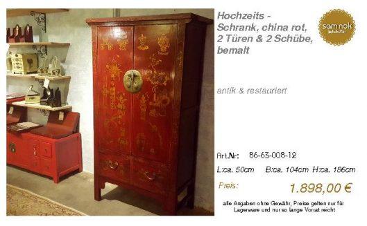 86-63-008-12-Hochzeits - Schrank, china