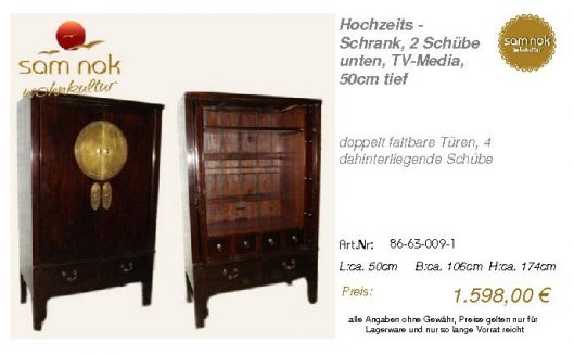 86-63-009-1-Hochzeits - Schrank, 2 Schü