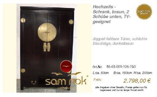 86-63-009-106-150-Hochzeits - Schrank, braun,