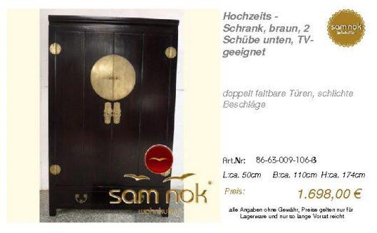 86-63-009-106-B-Hochzeits - Schrank, braun,
