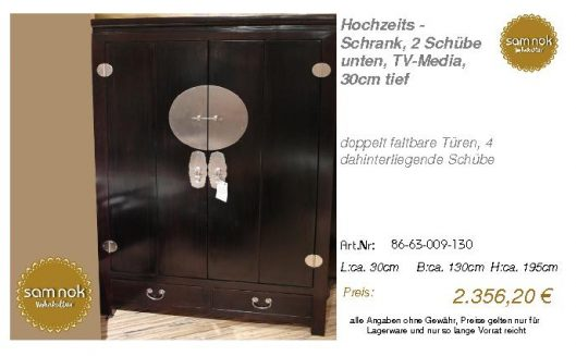 86-63-009-130-Hochzeits - Schrank, 2 Schü