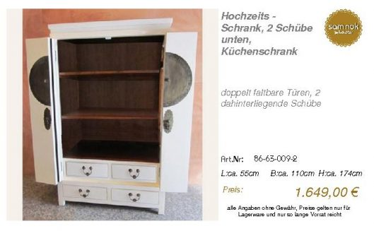 86-63-009-2-Hochzeits - Schrank, 2 Schü