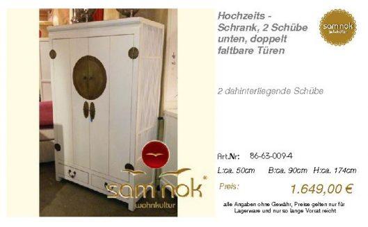 86-63-009-4-Hochzeits - Schrank, 2 Schü