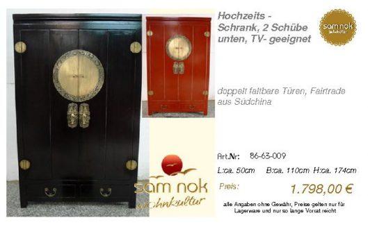 86-63-009-Hochzeits - Schrank, 2 Schü