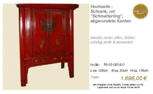 86-63-020-2-0-Hochzeits - Schrank, rot _S