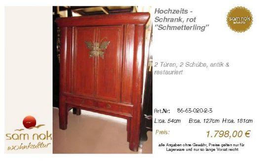 86-63-020-2-3-Hochzeits - Schrank, rot _S
