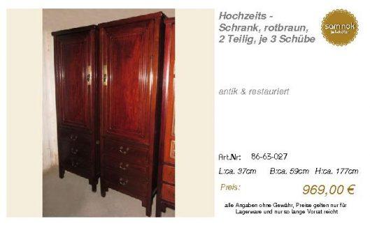 86-63-027-Hochzeits - Schrank, rotbra