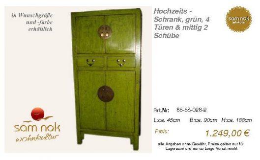 86-63-028-2-Hochzeits - Schrank, grün,