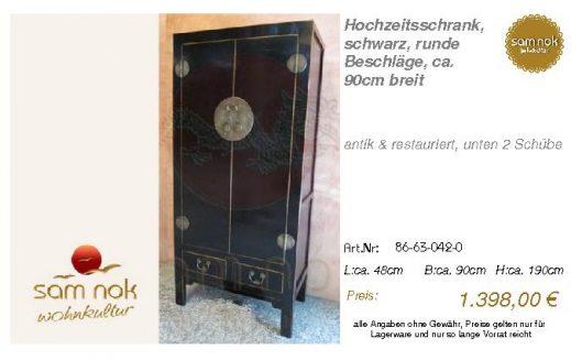 86-63-042-0-Hochzeitsschrank, schwarz,