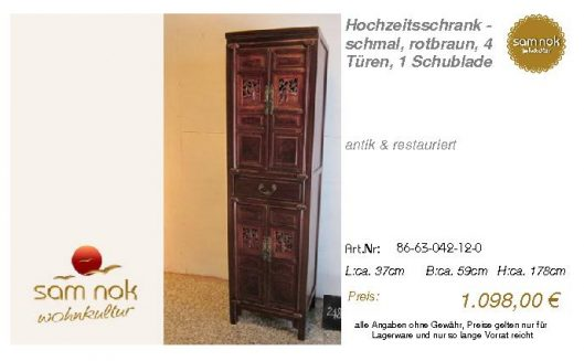 86-63-042-12-0-Hochzeitsschrank - schmal,