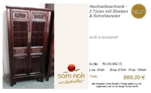 86-63-042-13-Hochzeitsschrank - 2 Türen
