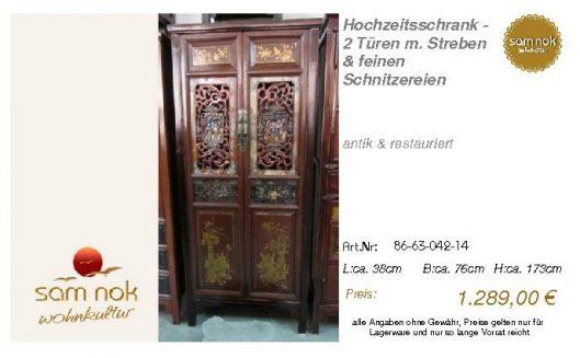 86-63-042-14-Hochzeitsschrank - 2 Türen