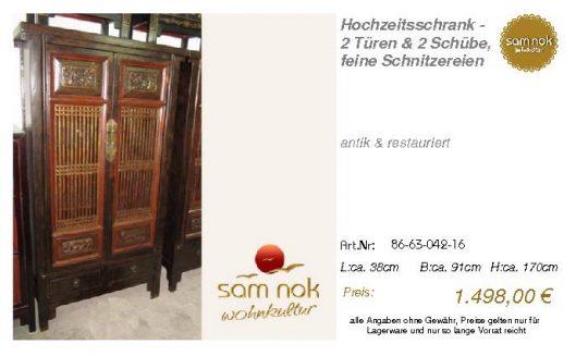 86-63-042-16-Hochzeitsschrank - 2 Türen