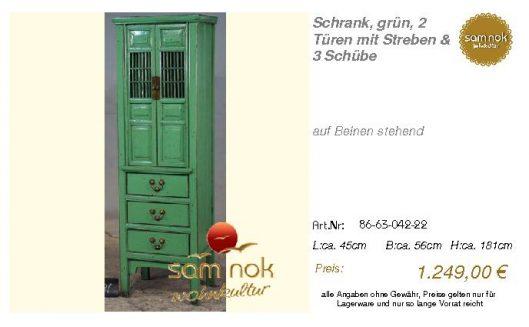86-63-042-22-Schrank, grün, 2 Türen mit