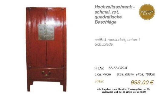 86-63-042-4-Hochzeitsschrank - schmal,