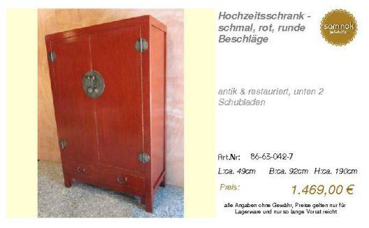 86-63-042-7-Hochzeitsschrank - schmal,