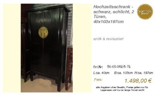 86-63-042-8-15-Hochzeitsschrank - schwarz,