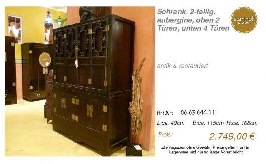 86-63-044-11-Schrank, 2-teilig, aubergin