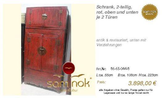 86-63-044-8-Schrank, 2-teilig, rot, obe