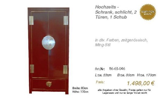 86-63-046-Hochzeits - Schrank, schlic