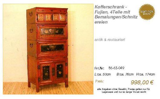 86-63-049-Kofferschrank - Fujian, 4Te